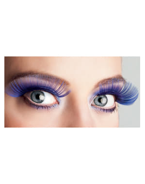 Woman's Long Blue Eyelashes