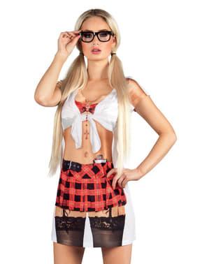 Vestido foto-realista de estudante fogosa para mulher