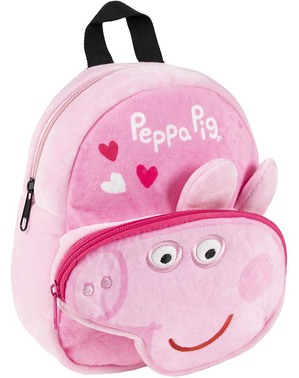 Mochila de Peppa Pig de peluche para niña