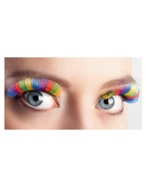 Multifarvede øjenvipper til kvinder