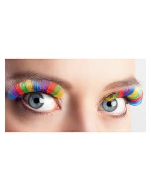 Ögonfransar flerfärgad dam