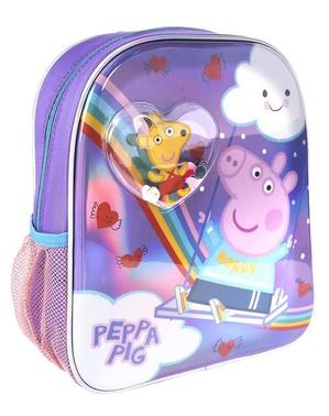 Mochila de Peppa Pig de arco-íris para menina