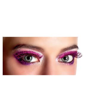 Metallisch rosa Wimpern für Damen