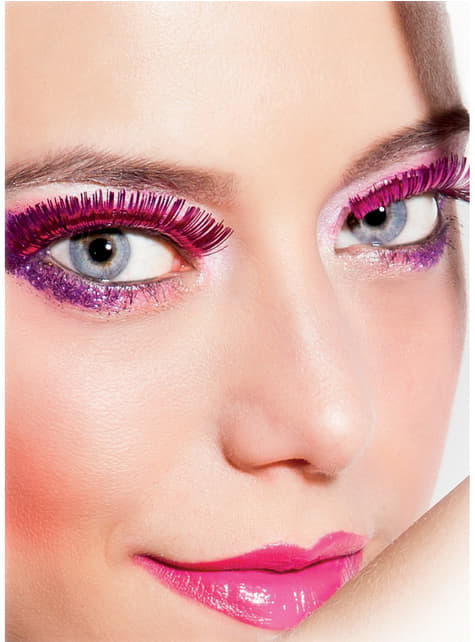 Woman's Metallic Pink Eyelashes