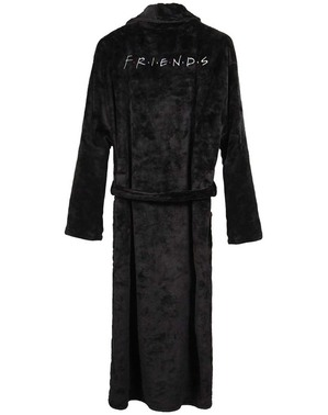 """Бродиран черен мъжки халат на """"Приятели"""""""