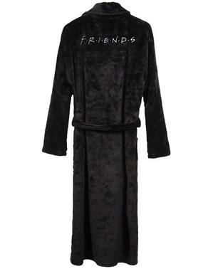 Vrienden geborduurde zwarte kamerjas voor mannen