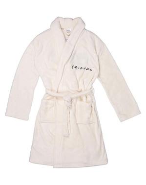 Білий халат з вишивкою Friends для жінок