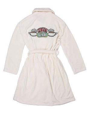 Friends geborduurde witte kamerjas voor vrouwen