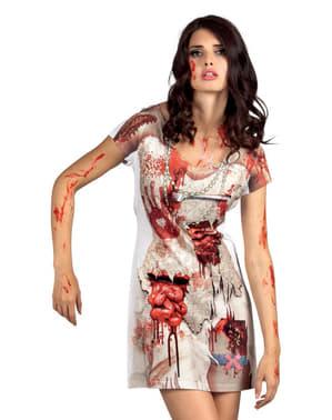 Vestido de novia zombie para mujer