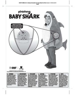 Kostým Daddy Shark pre bábätká