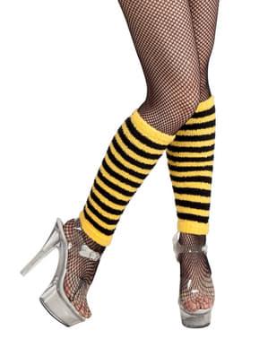 Dámské návleky na nohy krátké včelka