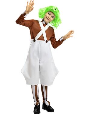Oompa Loompa Kostume til Børn - Charlie og Chokoladefabrikken