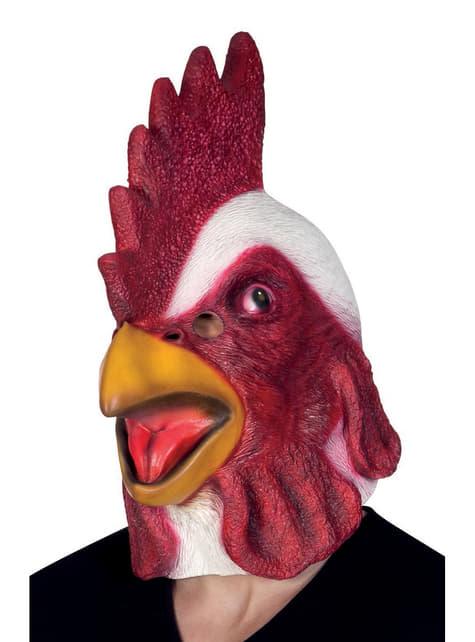 Máscara de gallo de corral para adulto