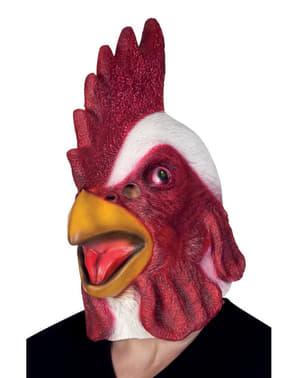 Maschera da gallo del cortile per adulto
