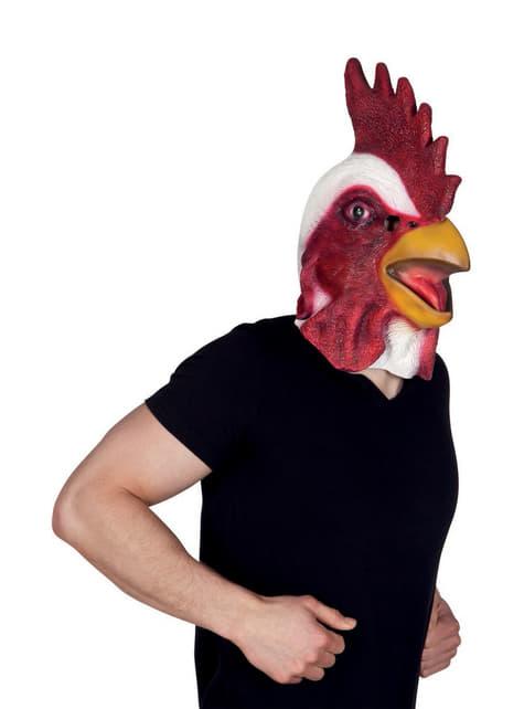 Máscara de gallo de corral para adulto - para tu disfraz