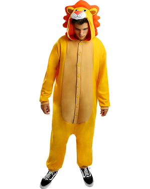 Onesie Løve Kostyme til Voksne
