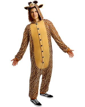 Onesie giraffe kostuum voor volwassenen