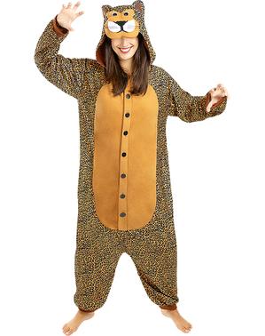 Maskeraddräkt med leopard onesie för vuxen