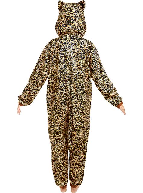 Onesie luipaard kostuum voor volwassenen