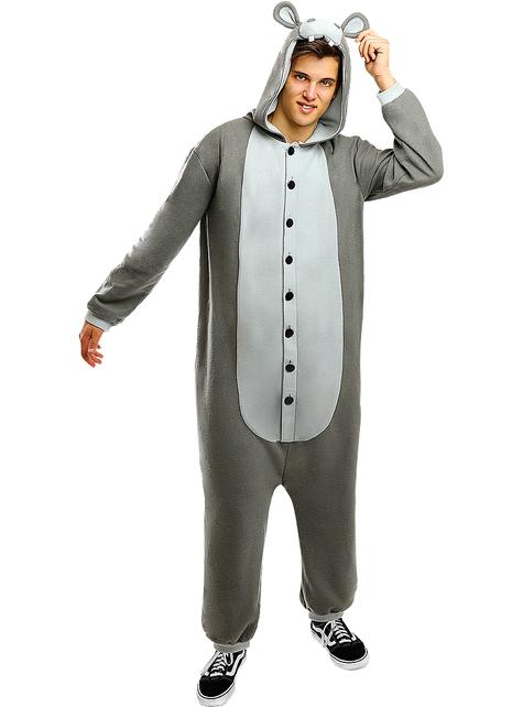 Strój onesie Hipopotam dla dorosłych