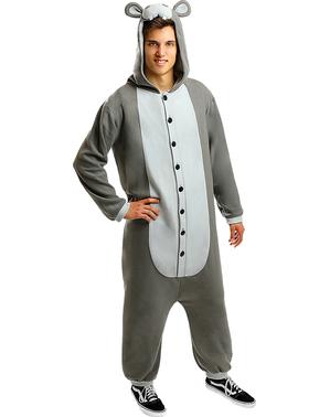 Nilpferd Onesie Kostüm für Erwachsene