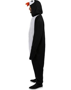 Maskeraddräkt med Pingvin onesie för vuxen