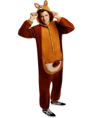 Costume da canguro onesie per adulto