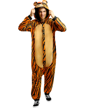 Disfraz de tigre onesie para adulto