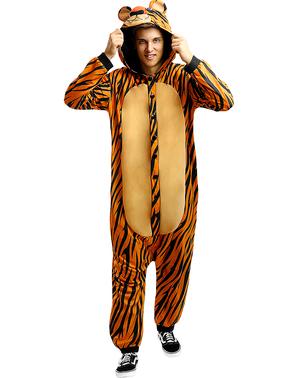 Onesie tijger kostuum voor volwassenen
