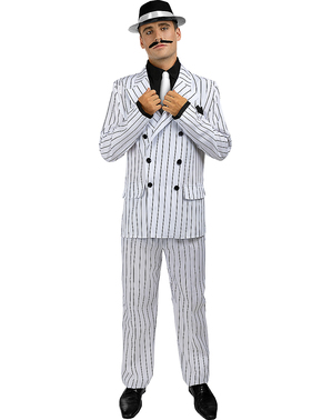 1920s Gangster Costume in White