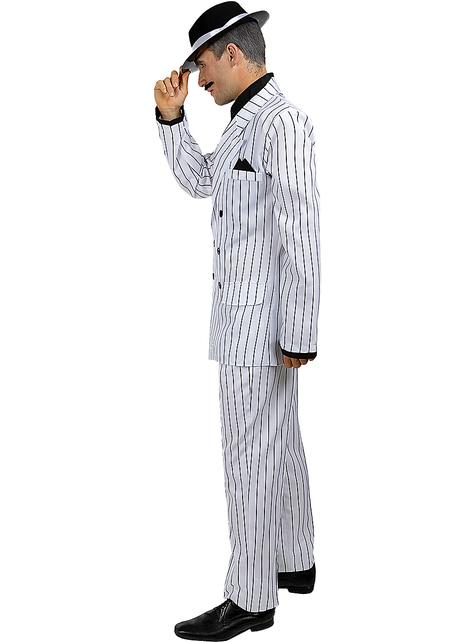 Disfraz de gángster blanco años 20