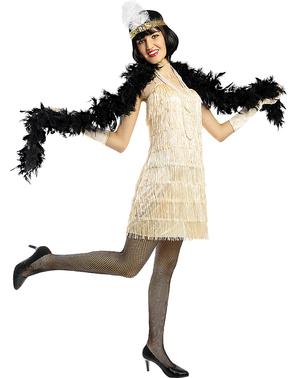 1920-tallet Flapper Kostyme i Gull