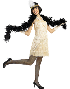 1920s Flapper Costume in Gold