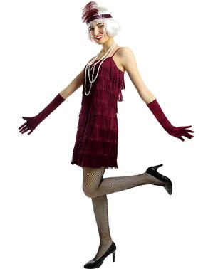 1920erne Flapper Kostume i Mørkerød