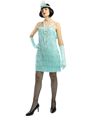 1920s Flapper Costume in Blue