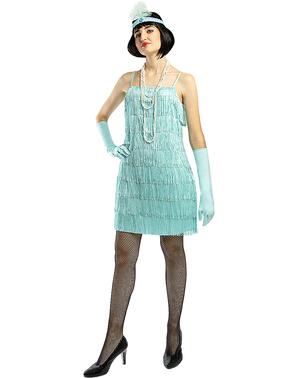 Modrý kostým Flapper z 20. let