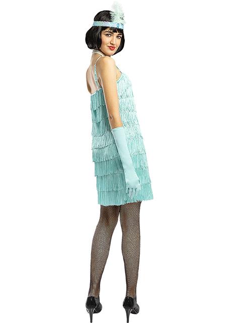 Disfraz de charlestón años 20 azul