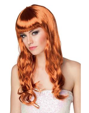 Perruque rousse longue sexy femme