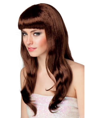 Long Brunette Wig for Women