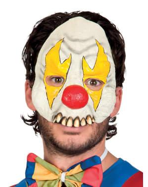 Mezza maschera da pagliaccio psicopatico per adulto