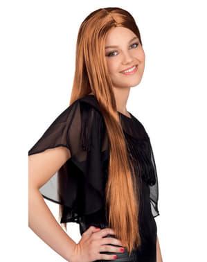 Naisten hurmaava pitkä ruskea peruukki