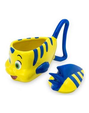 Caneca de Flounder 3D - A Sirenita