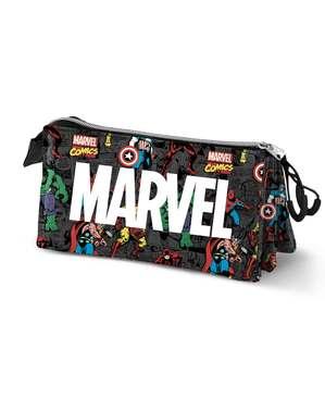 Estojo Marvel Logo com personagens