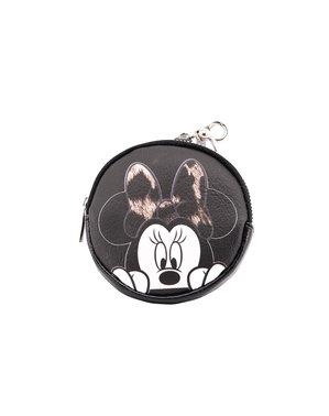 Porta-moedas redondo Minnie Mouse para mulher