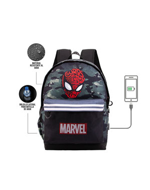Sac à dos scolaire Spiderman camouflage - Marvel