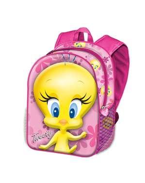 Mochila Piu-Piu rosa para menina - Looney Tunes