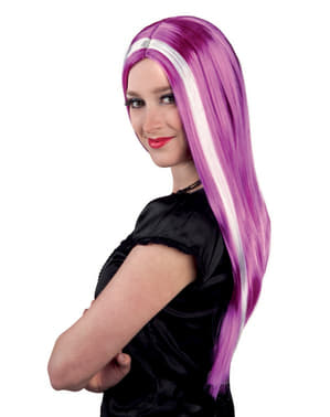 Woman's Striking Long Purple Wig