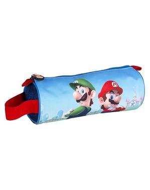 Super Mario and Luigi Round Pencil Case