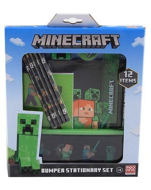 Conjunto de papelaria Minecraft