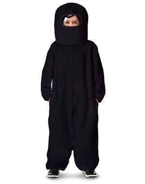 Disfraz de Among Us Impostor negro para niño
